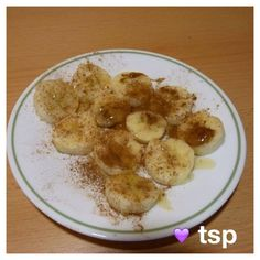 21 Day Fix Approved. Snack Recipe: Bananas with honey and cinnamon
