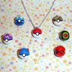 Pokemon Necklace | Pokemon Pokeball Necklace by YellerCrakka on Etsy