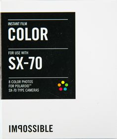 """Color Instant Film for SX-70 by """"The Impossible Project"""""""