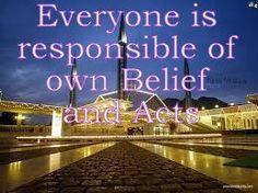 The Creator, His Caliph and Satan (Allaah, Aadamii awr ibliis): Everyone is responsible of own Belief and Acts