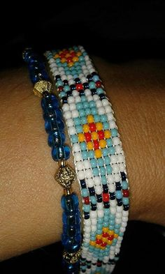 Hey, I found this really awesome Etsy listing at https://www.etsy.com/listing/245166641/combination-seed-bead-tribal-bead-loomed
