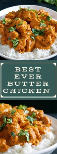 This easy butter chicken recipe Indian style is my take on the classic chicken curry dish that is popular all over the world. With a rich creamy sauce and a fantastic blend of spices this is one of the must-try easy family dinner recipes. Butter Chicken Rezept, Butter Chicken Curry, Buttered Chicken Recipe, Easy Butter Chicken Recipe, Indian Butter Chicken, Indian Chicken Curry, Creamy Chicken Curry, Indian Chicken Korma Recipe, Butter Chicken Spices