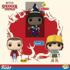 Stranger Things Season 3 Funko Pop Characters, Will the Wise, Dustin, Eleven, Millie Bobby Brown Stranger Things Lights, Stranger Things Funko Pop, Stranger Things Halloween, Stranger Things Quote, Stranger Things Season 3, Stranger Things Aesthetic, Stranger Things Netflix, Pop Characters, Geek Games