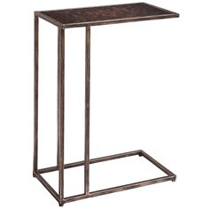 $99 Pier One, copper and glass Maxwell C-Table