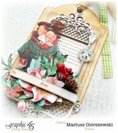 This Christmas Carol tag from Mariusz is perfect to brighten those gift boxes! Make this in less than 10 minutes (click through for tutorial) #graphic45