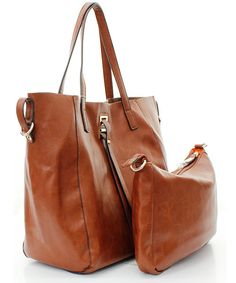 This is that bag Ive been looking for!! 2 in 1 Drake Tote in Chestnut on Emma Stine Limited