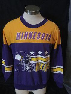 Vintage 1990 s Minnesota Vikings NFL Sweatshirt 50 50 Large 70eec3eb8