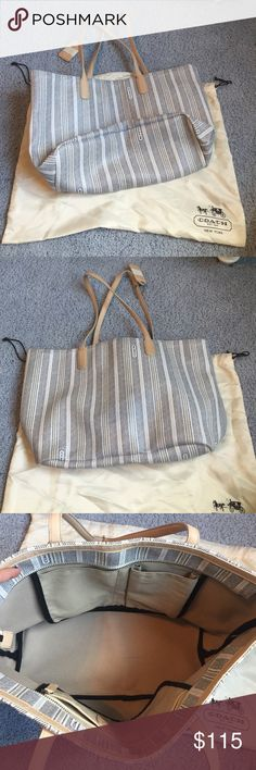 Coach tote bag 100% authentic. Natural wear, 9/10 condition. Purchase comes with dustbag Coach Bags Totes