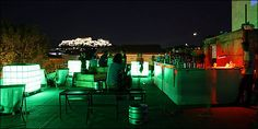 In Athens, the city that never -ever- sleeps, nightlife choices are endless. But when spring arrives, all you need is one of those precious roof terraces to make the most of your outing, this city and that Bloody Mary! My Athens, Athens Greece, Romantic Things To Do, Romantic Places, Roof Top Cafe, Best Rooftop Bars, Outdoor Furniture Sets, Outdoor Decor, Night Life