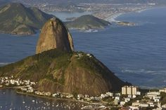 Sugar Loaf Mountain, Rio De Janiero, Brazil Stock Photo - Image of aerial, coastline: 8503924 Holiday Destinations, Travel Destinations, Great Names, Seven Wonders, Travel And Tourism, Vacation Trips, South America, Brazil, Mountain