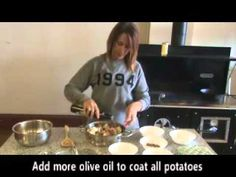 How-to cook roasted herb potatoes on the Kitchen Queen Oven cooking of potatoes with a wood cook stove. Wood Stove Cooking, Oven Cooking, Kitchen Queen, Roast, Potatoes, Herbs, Desserts, Recipes, Food