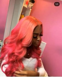 Red Wigs Lace Frontal Wigs Color Wigs Green And White Wig Black And Re – eggplantral Hair Color Dark, Brown Hair Colors, Hair Colours, Weave Hairstyles, Pretty Hairstyles, Asymmetrical Hairstyles, Baddie Hairstyles, Ponytail Hairstyles, Vintage Hairstyles