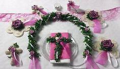 Tischdekoration Set Kommunion Konfirmation Hochzeit pink weiß Kreuz Fisch  | eBay