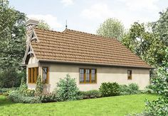 Tour the Robbin English Cottage Home that has 2 bedrooms and 1 full bath from House Plans and More. See highlights for Plan Cottage Style House Plans, French Country House Plans, Cottage Style Homes, Cottage Design, House Design, House Plans And More, Small House Plans, Plaster House, Tudor Style Homes