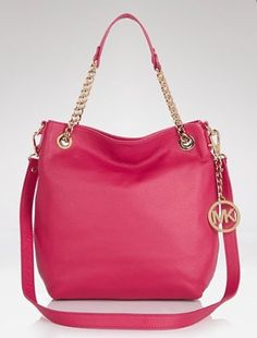 MICHAEL Michael Kors Tote - Chain Strap LACQUER PINK