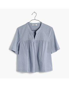 Women's Blue Striped Shoreward Top