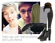 """""""REQUESTED: Rainy day with Niall (boyfriend) an Luke (friend)"""" by style-with-one-direction ❤ liked on Polyvore featuring Topshop, Enza Costa, River Island, ASOS, Fulton and niall horan one direction 1d luke hemmings 5sos 5 seconds of summer"""