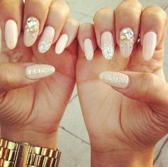 Rockstar pink pastel nails