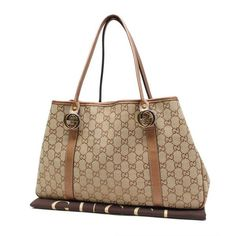 GUCCI GG Canvas Totes Beige Canvas 232957