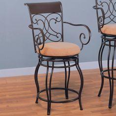 Wildon Home® Bar & Counter Swivel Stool Seat Height:
