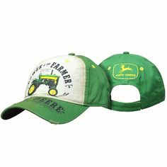 John Deere Power to The Farmer Distressed Cap Hat Green Adjustable in Clothing, Shoes & Accessories, Men's Accessories, Hats | eBay