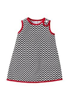 chevron luxe for baby girl - I have a pattern for this that I could alter to add the fastener over the shoulder.