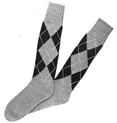 Link to download FREE knitting pattern for Mens Argyle Socks knit patterns originally published in Two Needle Argyles, Doreen Knitting Vol 96. #knit #knitting