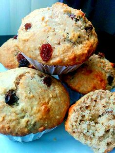 Muffin Recipes, Brunch Recipes, Dessert Recipes, Healthy Sweets, Healthy Recipes, Power Muffins, Desserts With Biscuits, Biscuit Cookies, Food And Drink