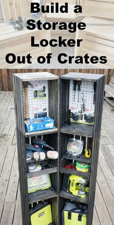 How to Build a Storage Locker out of Crates