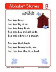 Kindergarten Reading Comprehension Worksheet – Alphabet Stories – A - Yahoo Image Search Results