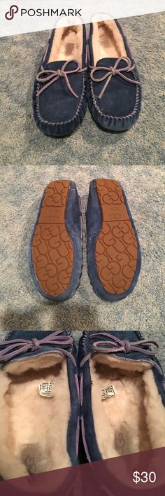 Like New Blue Ugg Moccasins Like new Ugg Australia blue moccasins. Extremely comfy and good for any season to keep your feet warm! UGG Shoes Moccasins