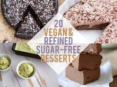 Looking for Refined Sugar-Free Desserts? Well, look no further. I've compiled the best 20 recipes, that are also vegan. Many of them are gluten-free too.
