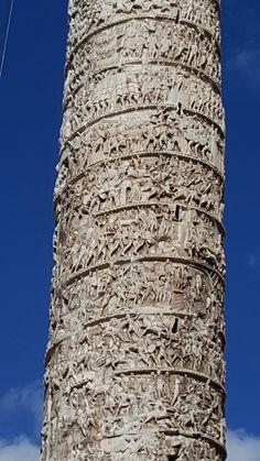 Coluna Antonina, de Marco Aurélio, Roma | Viaje Comigo
