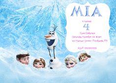 Frozen Birthday Party Invitation by MiabbyDesigns on Etsy