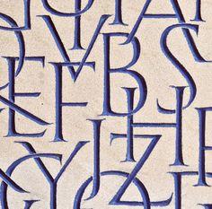 Joshua Larkum carved lettering