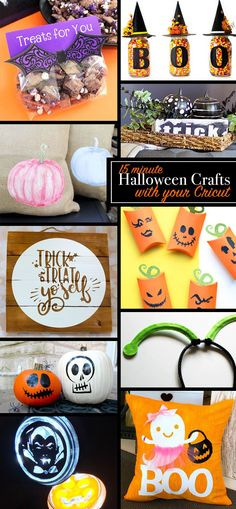 15 minute DIY Halloween Crafts to Make with Your Cricut