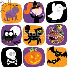 cute halloween elements Royalty Free Stock Vector Art Illustration