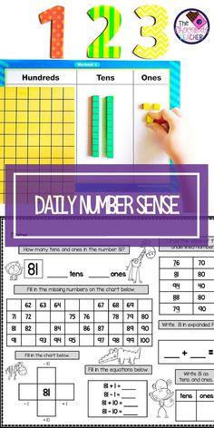 Kindergarten Place Value Worksheets. Kindergarten Place Value Worksheets. Differentiated First Grade Place Value Worksheets Math Practice Worksheets, Place Value Worksheets, Math Place Value, 1st Grade Worksheets, 1st Grade Math, Place Values, Worksheets For Kids, Second Grade, Math Resources