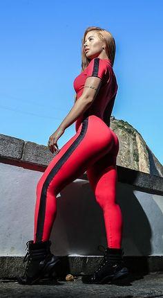 Short Sleeve Zipper Patchwork Tracksuit Women Sportwear Outfit Workout - HESHEONLINE Cute Workout Outfits, Workout Attire, Womens Workout Outfits, Sport Outfits, Workout Jumpsuit, Dressy Outfits, Fitted Jumpsuit, Red Jumpsuit, Rompers Women