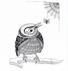 EFIE goes Zentangle - Ben Kwok Little Bird --by Efie (#1)