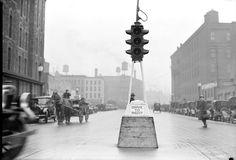 The world's first electric traffic signal was put into place on the corner of Euclid Avenue and East 105th Street in Cleveland, Ohio, ...