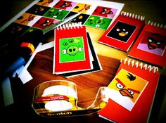 ... Prize Bin this year?... The Contemplative Creative: Project : Angry Birds Mini Notebooks