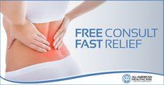 Free back pain consult. Covington Louisiana, Media Campaign, Back Pain, Health Care, American, Free, Health