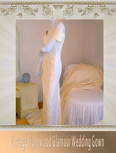 Vintage Hollywoord Glamour Wedding Gown Mid by whiteriver51, $750.00