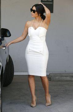 Kim K's bridal shower look a minha cor preferida branco seja verão ou inverno BRANCO Blogueira on Line