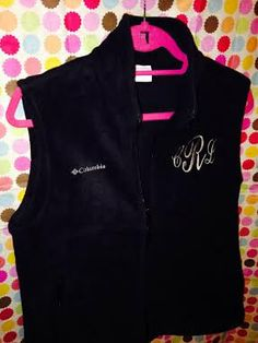 Monogram Columbia Vest by ATouchOfSouthern on Etsy, $49.99