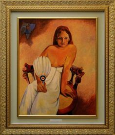 Buy COPY from GAUGUIN - Jeune fille à l'éventaile - 1902, Oil painting by Carlo Salomoni on Artfinder. Discover thousands of other original paintings, prints, sculptures and photography from independent artists.