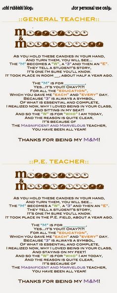 teacher appreciation week end of year personalized poems for teachers ...