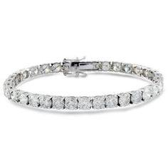 #Malakan #Jewelry - White Gold Diamond Tennis Bracelet BL7040 #Bracelet #Fashion #TennisBracelet