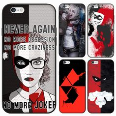 Suicide Squad Girl Lady Women Female Relief Print Harley Quinn Design Case Conque For iPhone SE 6 Plus Jared Leto Joker, Iphone 5s, Harley Quinn, Deadshot, Margot Robbie, Katana, Catwoman, Dc Comics, Iphone Cases Quotes